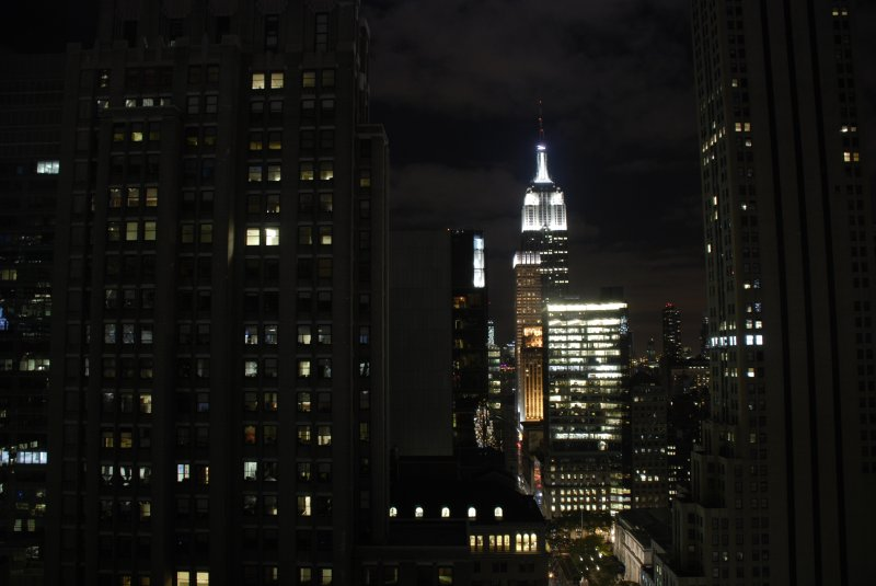 Empire State Building bei Nacht