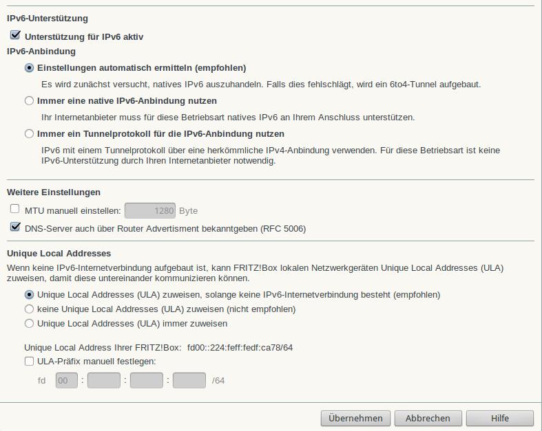 Einstellen fritzbox manuell mtu Anleitung: VPN